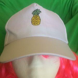 Pineapple 🍍 White Ball 🧢 Cap